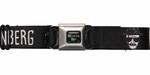 Breaking Bad Heisenberg Sketch Black Seatbelt Mesh Belt