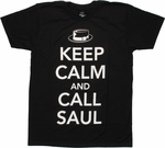 Breaking Bad Keep Calm Call Saul T Shirt Sheer