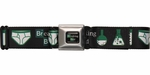 Breaking Bad Title Flasks and Underwear Seatbelt Mesh Belt