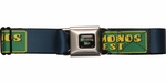 Breaking Bad Vamonos Pest Label Blue Seatbelt Mesh Belt