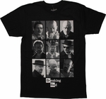 Breaking Bad Walter White Collage T Shirt Sheer
