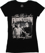 Bride of Frankenstein We Belong Dead Baby Tee