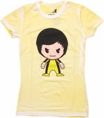 Bruce Lee Toon Distressed Baby Tee