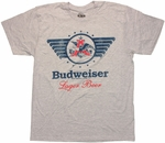 Budweiser Eagle Logo T Shirt Sheer