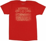 Budweiser Label T-Shirt Sheer