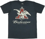 Budweiser Navy T Shirt Sheer