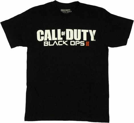 Call of Duty Black Ops 2 Logo T Shirt Sheer