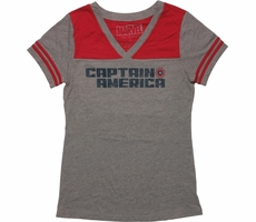 Captain America 41 V Neck Jersey Juniors T-Shirt Shirt of the Day