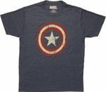 Captain America Aged Shield T Shirt Sheer