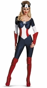 Captain America American Dream Bustier Jumpsuit Costume