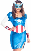 Captain America American Dream Shiny Dress Costume