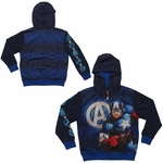 Captain America Avengers Sublimated Overlay Juvenile Hoodie