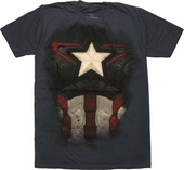 Captain America Avengers Ultron Suit T-Shirt Sheer