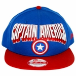 Captain America Block Name Hat