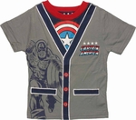 Captain America Cardigan Toddler T Shirt