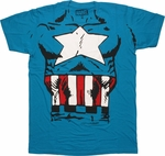 Captain America Classic Costume T Shirt Sheer