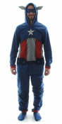 Captain America Costume Hooded Union Suit