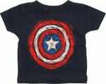 Captain America Crayon Shield Infant T Shirt