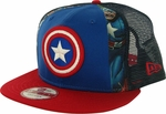 Captain America Dye Slice Mesh 9FIFTY Hat