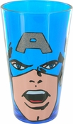Captain America Face Glitter Pint Glass
