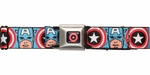 Captain America Face Logo Seatbelt Belt