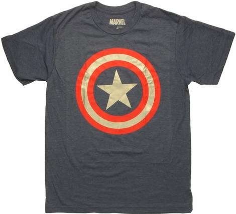 Captain America Foil Ring T Shirt Sheer