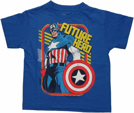 Captain America Future Hero Juvenile T Shirt