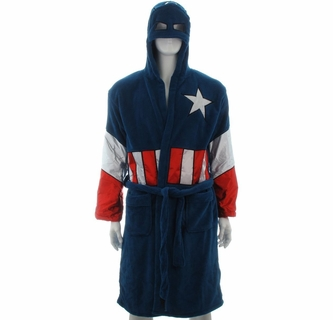 Captain America Hooded Fleece Robe