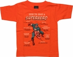 Captain America How to Spot Orange Toddler T Shirt