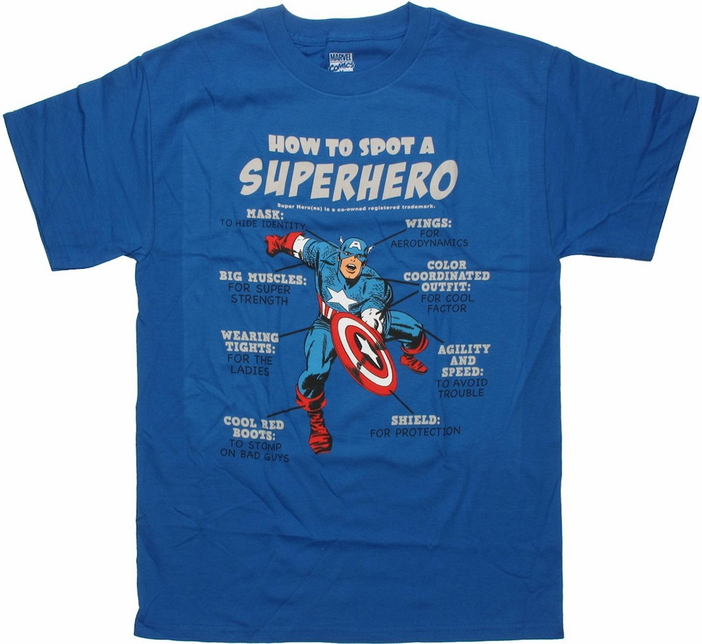 Captain America How To Spot T Shirt