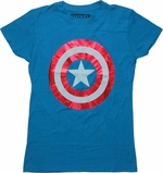 Captain America Logo Red Foil Baby Tee