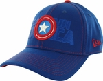 Captain America Logo Stack 39THIRTY Hat