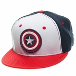 Captain America Logo Tricolor Flex Hat