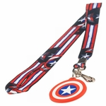 Captain America Long Stripes Charm Lanyard