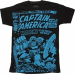 Captain America Madbomb Vintage T Shirt Sheer