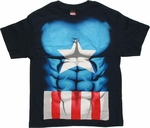 Captain America Midnight Abs Youth T Shirt
