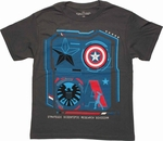 Captain America Scientific Research Youth T Shirt