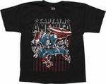 Captain America Shatter Youth T Shirt