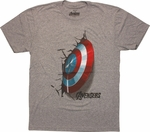 Captain America Shield Crash T-Shirt Sheer