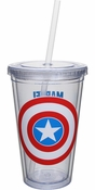 Captain America Shield Logo Travel Cup