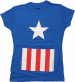 Captain America Suit Baby Tee