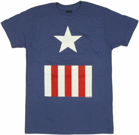 Captain America Suit T Shirt Sheer