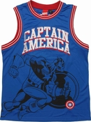 Captain America Super Soldier Basketball Jersey