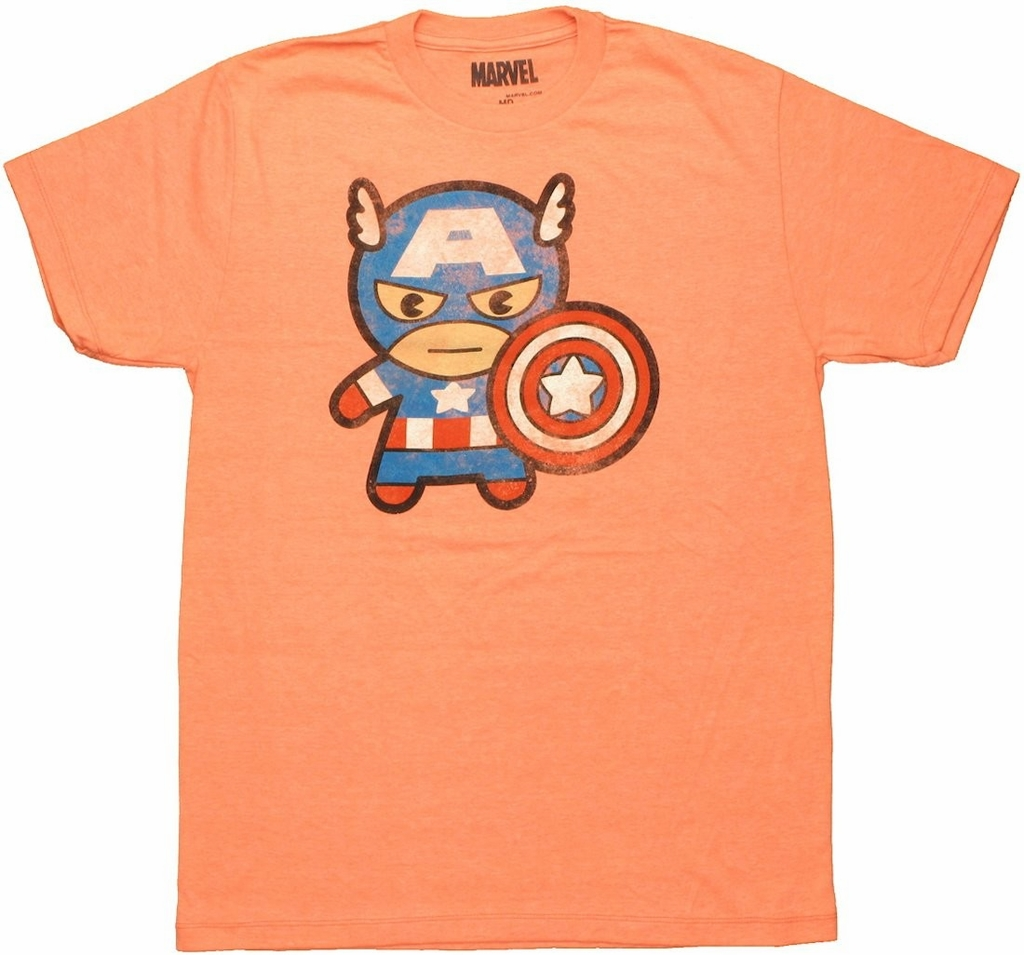 Captain America Toy Heather Orange T Shirt Sheer
