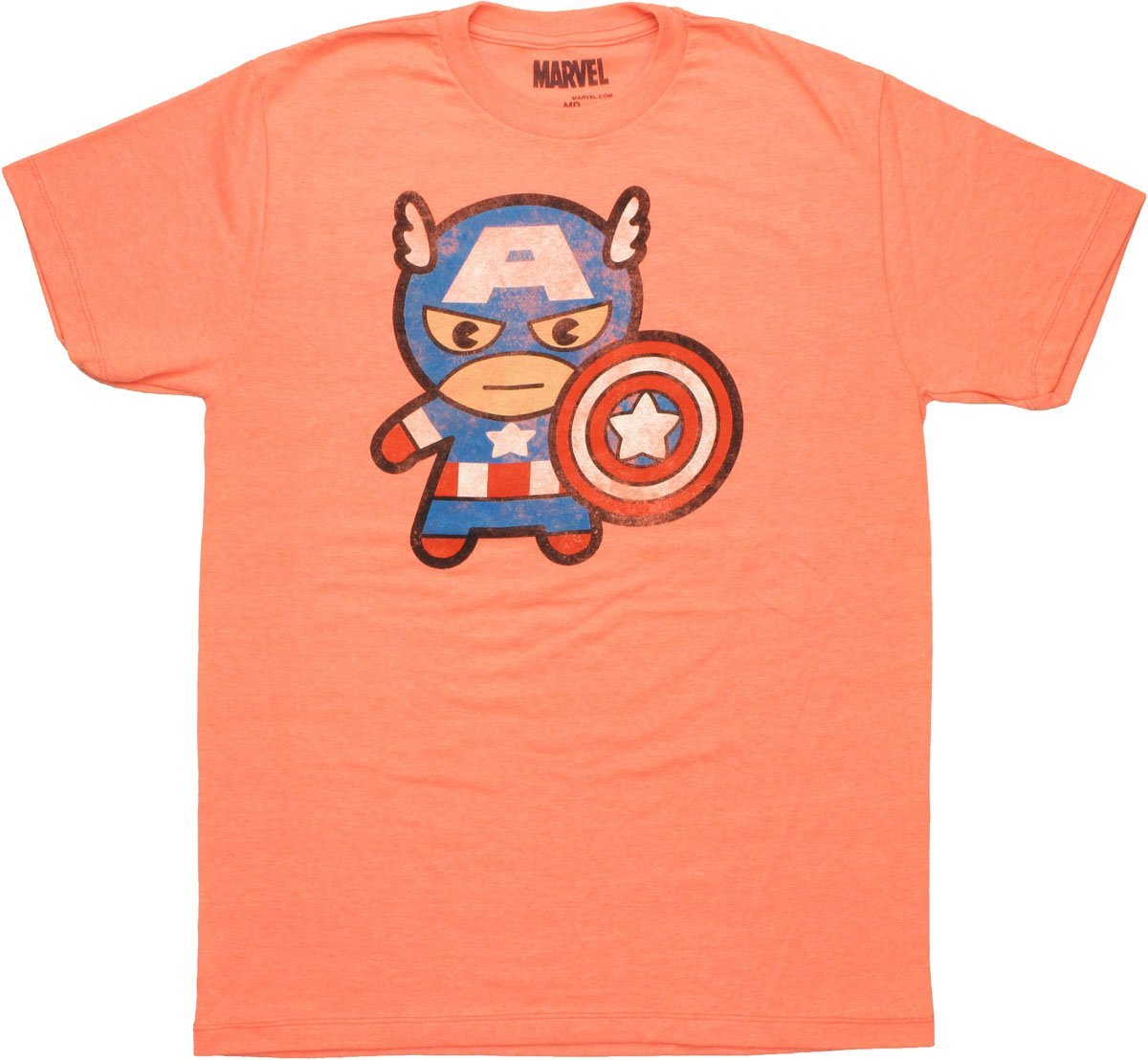 Captain America Toy Salmon T Shirt Sheer
