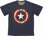 Captain America Vintage Logo Mesh Youth T Shirt