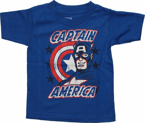 Captain America Vintage Smile Toddler T Shirt