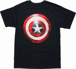 Captain America Winter Soldier Foil Shield T Shirt
