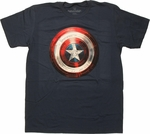 Captain America Winter Soldier Shield T Shirt Sheer
