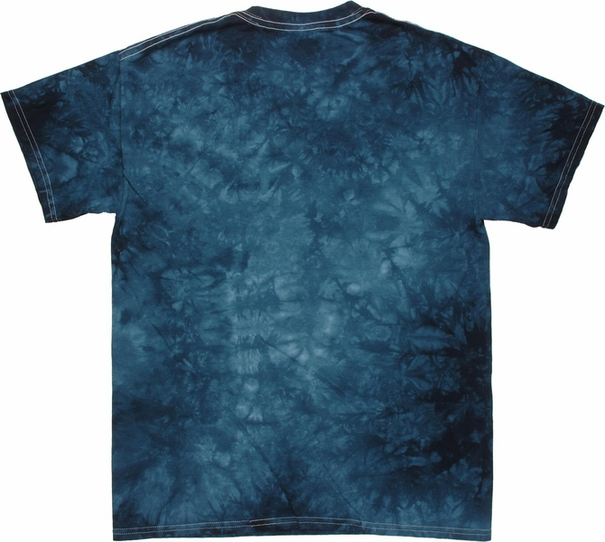 Captain America Winter Soldier Shield Throw Tie Dye T Shirt